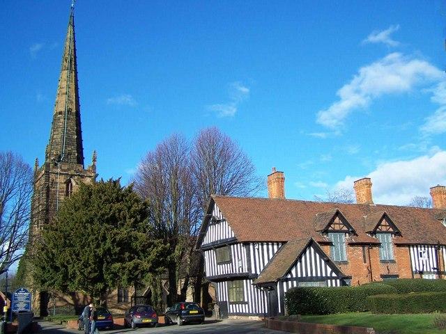 St Edburgha's Church and the Trust School, Yardley