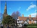 SP1386 : St Edburgha's Church and the Trust School, Yardley by Geoff Pick