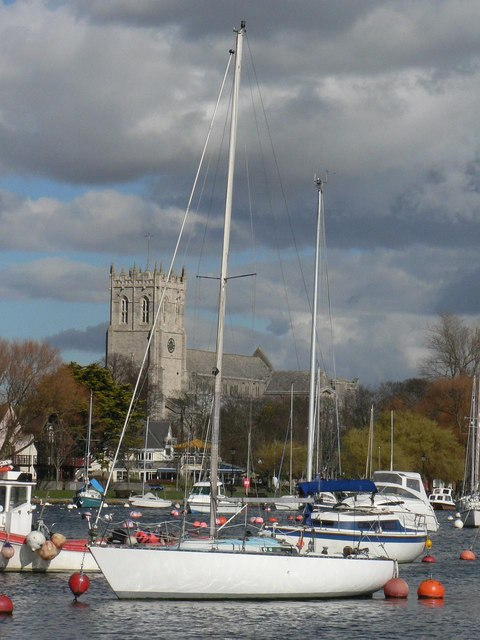 Wick: yacht and priory view