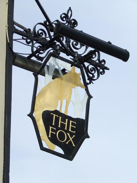 The Fox pub sign