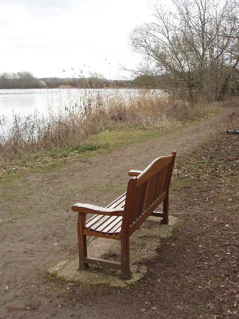 Alan Benning retirement bench at Spade Oak