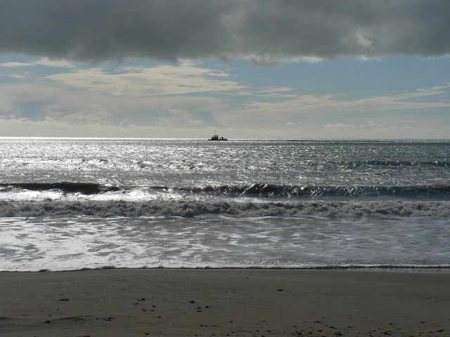 Southbourne: looking out at solitary boat
