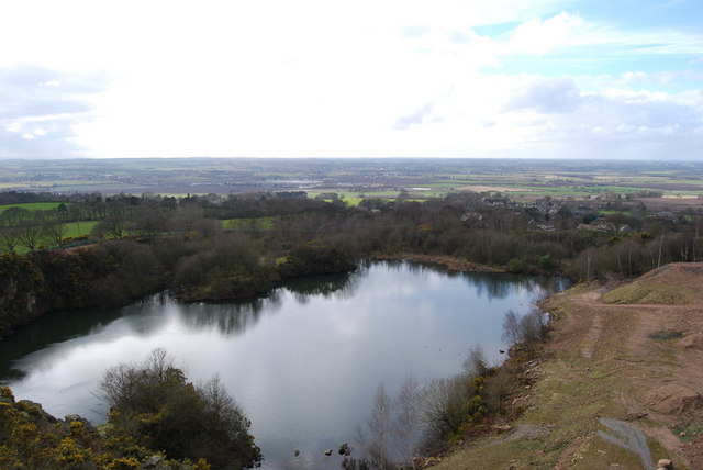 Flooded part of Hunters Hill Quarry