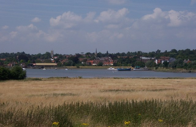 Woodbridge from Sutton Hoe