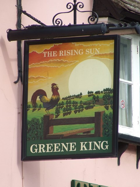The Rising Sun pub sign