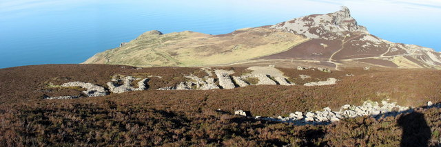 The middle Eifl Quarry with Mynydd y Gwaith in the background