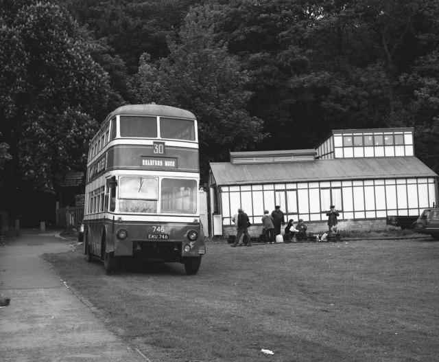 Bradford trolleybus at Shipley Glen