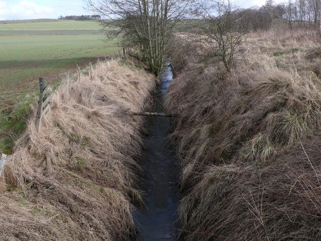 Drainange near The Bield