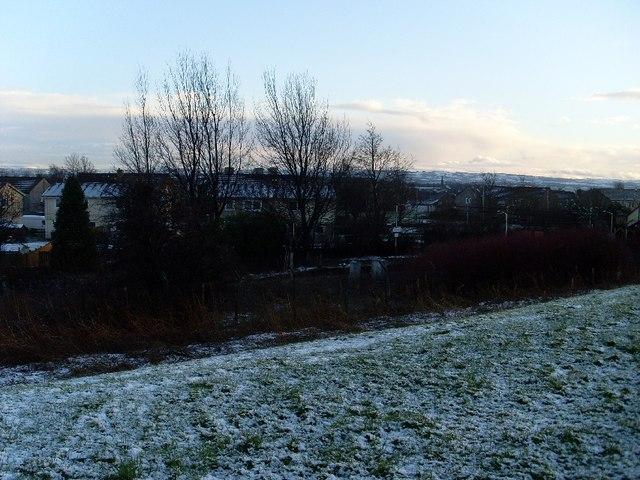 Snowscene in Clydebank