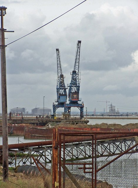Cranes on Rushenden Pier