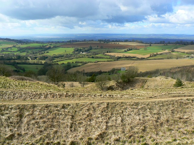 Painswick hill fort, and beyond