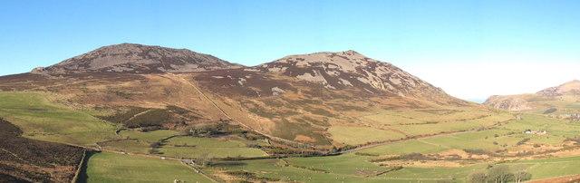 Mynydd Gwaith, Yr Eifl and Tre'r Ceiri from Mynydd Carnguwch