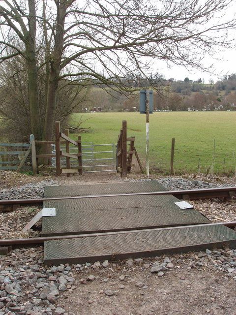 Level crossing for footpath