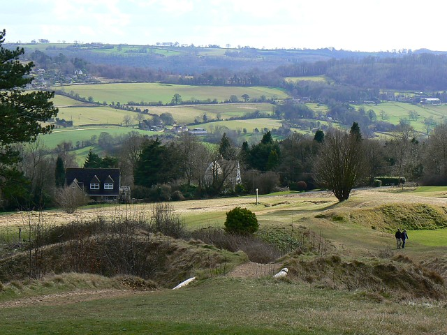 Looking south from Painswick Golf Course