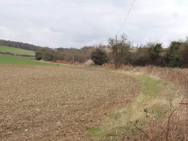 Ploughed field by Sheepridge Lane