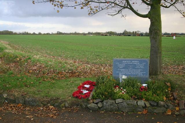 Graveley airfield war memorial