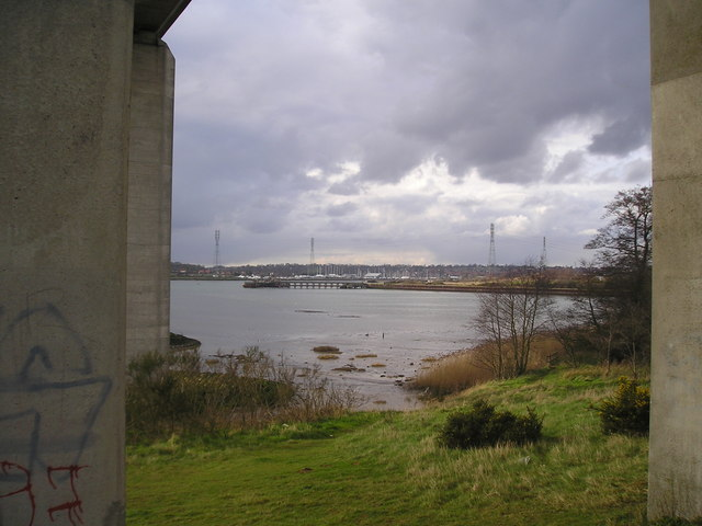 View from under the Orwell Bridge