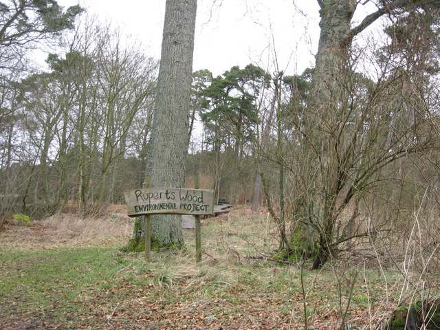 Entrance to Rupert's Wood