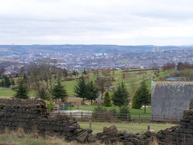 View over Grenoside Crematorium towards Sheffield