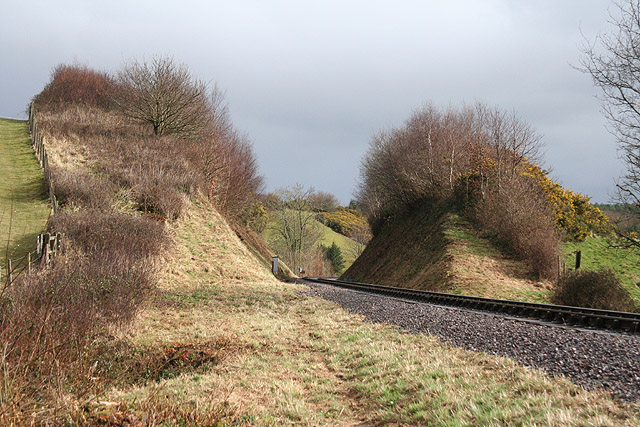 Crowcombe: cutting on the West Somerset Railway