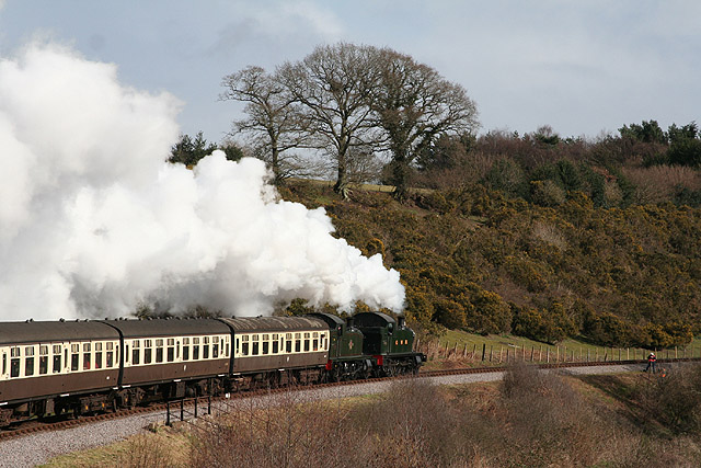Crowcombe: train from Minehead