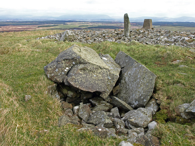 Burial cist on Mochrum Fell