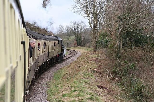 Crowcombe: approaching Stogumber Station