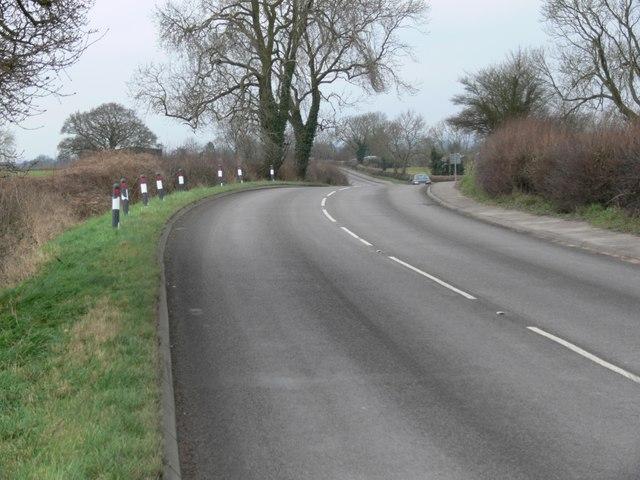 B581 Dunton Road towards Broughton Astley