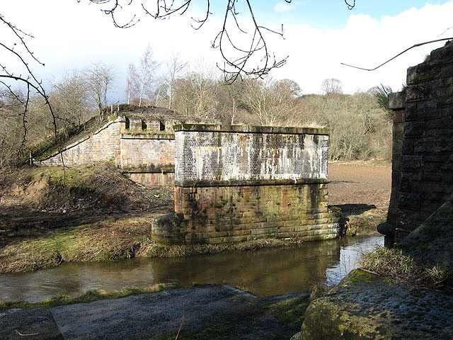 Bridge pier and abutments