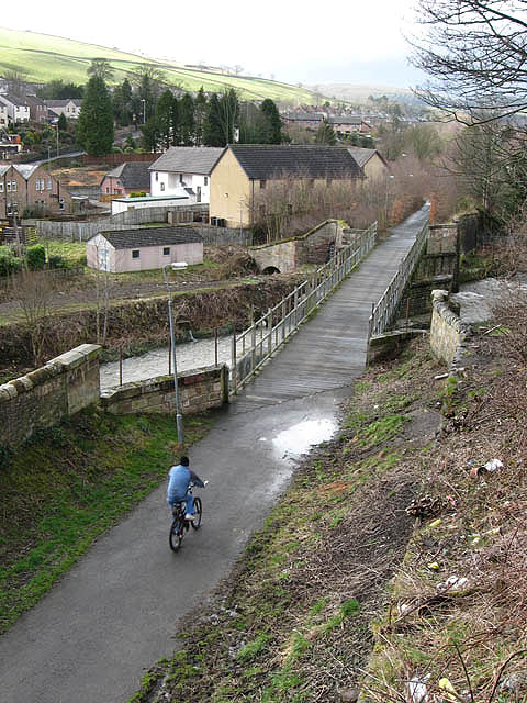 A cyclist on the Black Path