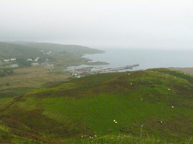 View of Scalasaig from the Monument