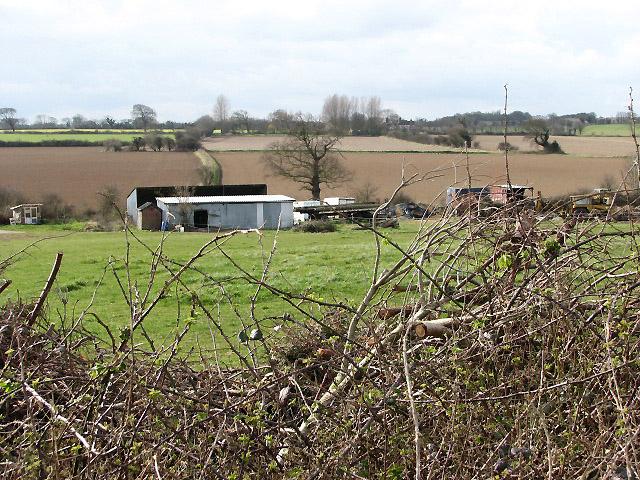 View west across farmland