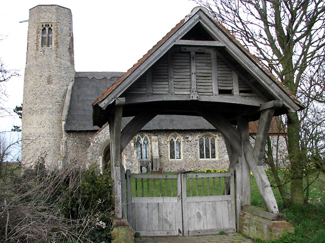 The church of All Saints with lych gate