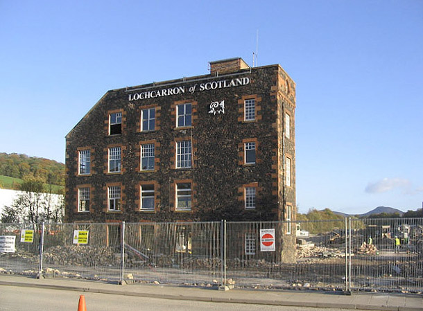 Demolition of the Lochcarron of Scotland Mill