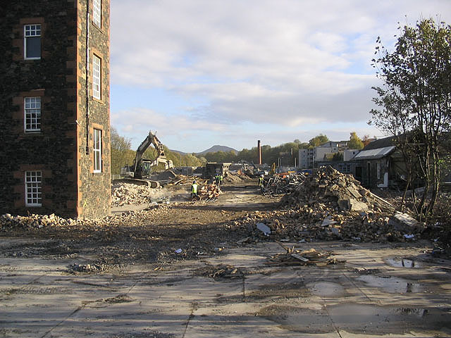 Demolition site in Huddersfield Street