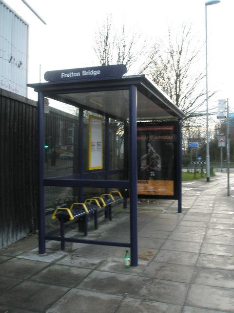 Bus stop by Fratton Bridge