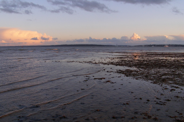Low tide off Calshot Spit