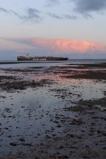 Low tide off Calshot Spit