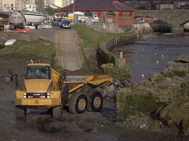 Aberystwyth harbour dredging