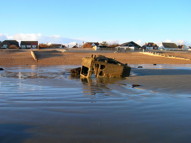 Remains of Mulberry Caisson, Aldwick Beach