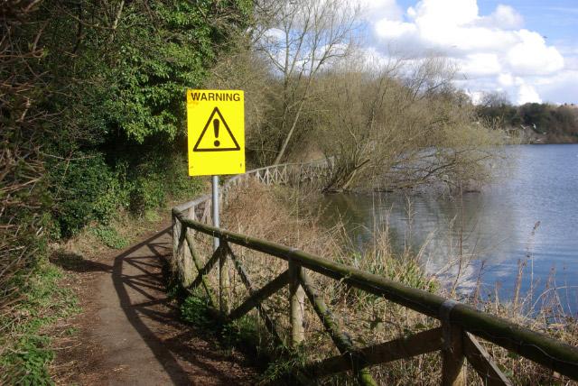 Warning! Newbold Quarry Park