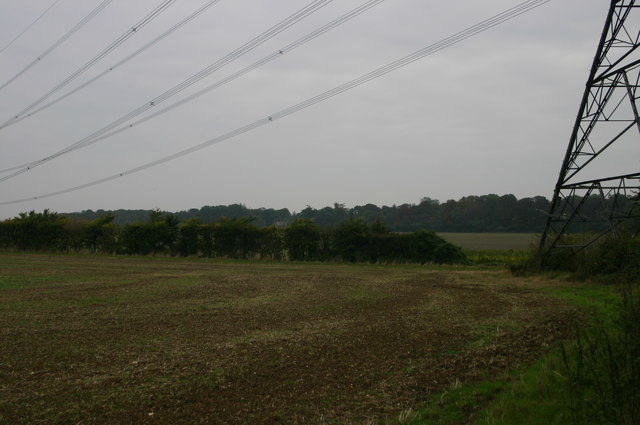 Pylons heading to Eastwick Hall Lane