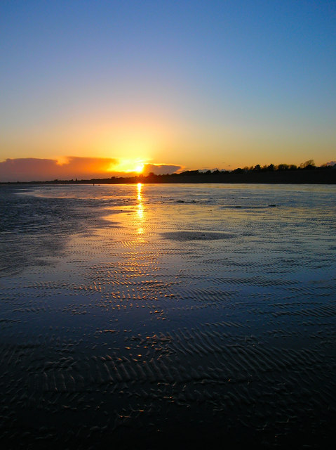 Sunset Over Aldwick Beach