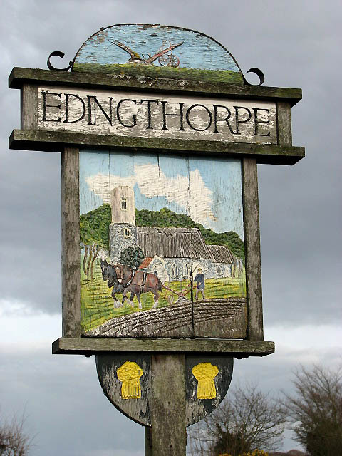 Edingthorpe - village sign