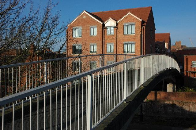 Footbridge over City Walls Road, Worcester