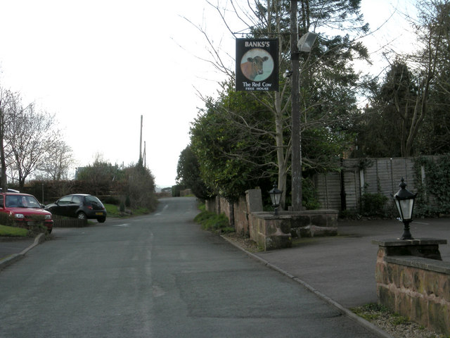 Lane beside The Red Cow at Ackleton