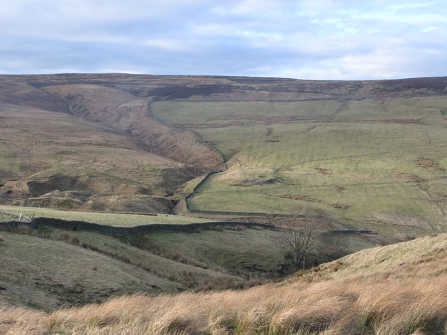 Disused mine workings in the valley of Nookton Burn (3)