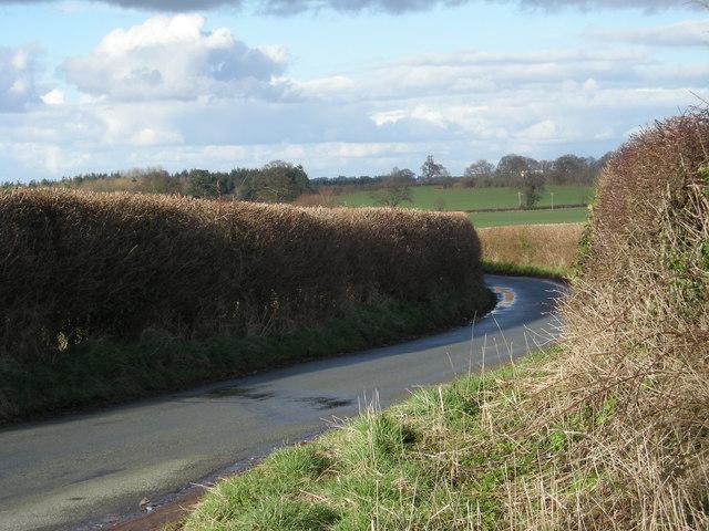 Lane near Heath House Farm
