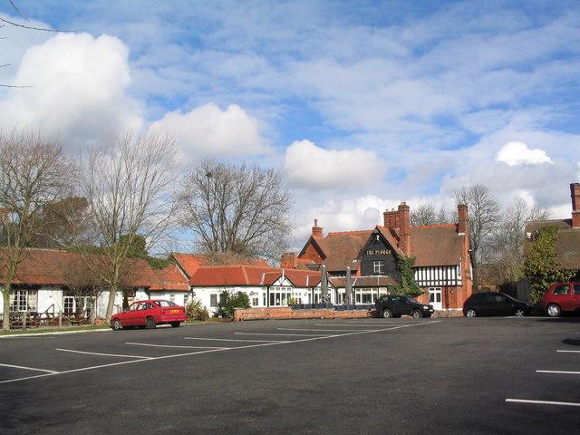 Car park at The Plough, Normanton on Soar