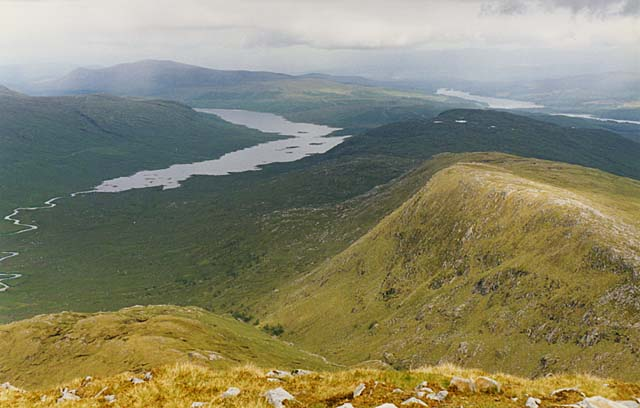 View east from Spidean Mialach